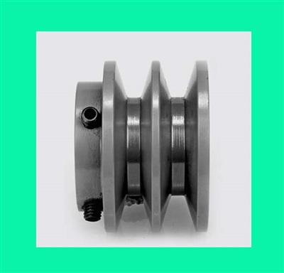 "2BK23 7/8"" Bore Solid Sheave Pulley with 2-1/4"" OD , Hex set screws for V-belts size 4L, 5L 2BK23-7/8"" (2.25"" X 7/8"") 2 Grooves for A,B belts"
