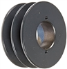 "2BK40H Cast Iron Bushed Sheave Pulley for Dual Belt V-belt  size 5L, B  OD : 4"" Double Grooves Pulley 2BK40H"