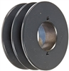 "2BK65H Cast Iron Bushed Sheave Pulley for Dual Belt V-belt  size 5L, B  OD : 6.5"" Double Grooves Pulley 2BK65H"