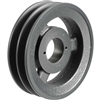 "2BK74H Cast Iron Bushed Sheave Pulley for Dual Belt V-belt  size 5L, B  OD : 7.5"" Double Grooves Pulley 2BK74H"