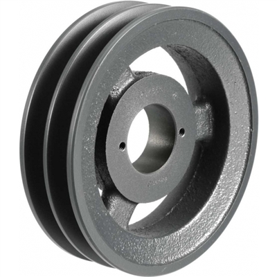"2BK85H Cast Iron Bushed Sheave Pulley for Dual Belt V-belt  size 5L, B  OD : 8.5"" Double Grooves Pulley 2BK85H"