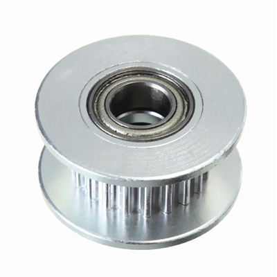 20T 3mm Bore 6mm GT2 Belt Smooth Idler Pulley Aluminum W/Bearing for 3D Printer​