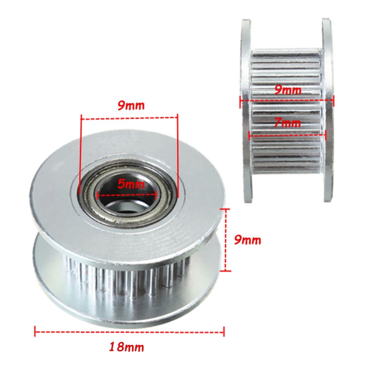 1Pcs 3D printer GT2 20T Timing Pulley Alumium Bore 5mm for 2GT Belt Width 6mm