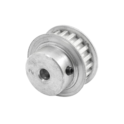 6.35mm Bore Aluminum Timing Pulley 5mm Pitch 12 Teeth 15mm Wide Belt Groove for 3D printer HTD5M