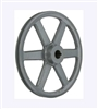 "AK124 1"" Bore  OD 12.25"", 1 Groove V-Belt Pulley Gear AK124-5/8"" Cast Iron for 3L . 4L A - V belt"