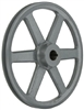 "AK124 5/8"" Bore  OD 12.25"", 1 Groove V-Belt Pulley Gear AK124-5/8"" Cast Iron for 3L . 4L A - V belt"