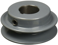 "AK20-7/8""  OD 2"" Cast Iron ID 7/8"" Shaft Pulley Sheave Single 1 Groove V Style A Belt 4L New"