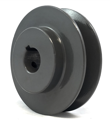 "AK25 3/4"" Inch Bore One Groove cast iron Solid Pulley with OD 2.5"" inch ID 3/4"" Inch for V-belts  size 4L, 5L"