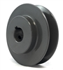 "AK25 7/8"" Inch Bore One Groove cast iron Solid Pulley with OD 2.5"" inch ID 7/8"" Inch for V-belts  size 4L, 5L"