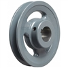 "AK61 1"" Bore Cast Iron Pulley for V-belt  size 3L, 4L OD 6"" One Groove"