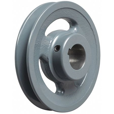 "AK61 5/8"" Bore Cast Iron Pulley for V-belt  size 3L, 4L OD 6"" One Groove"