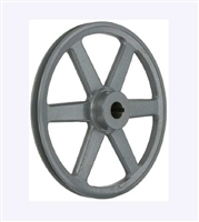 "AK81 1"" Bore  OD 7.95"" Cast Iron Pulley for V-belt  size 3L, 4L OD 7.95"" (8"")"