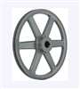 "AK81 3/4"" Bore Cast Iron Pulley for V-belt  size 3L, 4L OD 7.95"" (8"") One Groove"