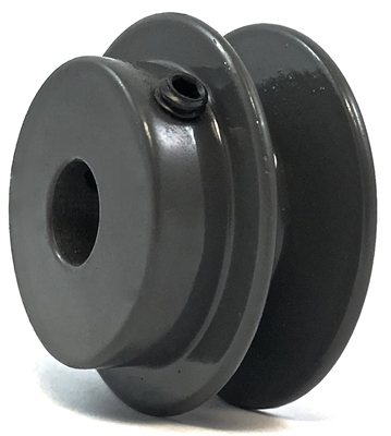 "BK20 1/2"" Inch Bore Solid Pulley with 2""  OD for V-belts cast iron size 4L, 5L"