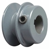 "BK20 3/4"" Inch Bore Solid Pulley with 2""  OD for V-belts cast iron size 4L, 5L"