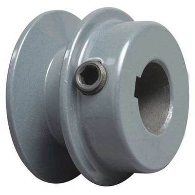 "BK20 5/8"" Inch Bore Solid Pulley with 2""  OD for V-belts cast iron size 4L, 5L"