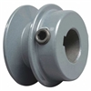 "BK25 3/4"" Inch Bore Solid Pulley with 2.5"" inch OD for V-belts cast iron size 4L, 5L"