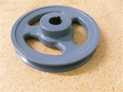 "BK40-5/8"" Inch Bore Solid Pulley with 4""  OD for V-belts cast iron size 4L, 5L"