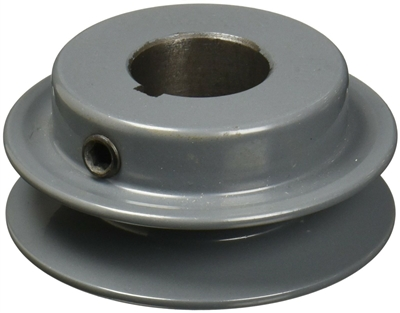 "BK40-7/8"" Inch Bore Solid Pulley with 4""  OD for V-belts cast iron size 4L, 5L"