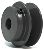 "BK50-1/2"" Inch Bore Solid Pulley with 5""  OD for V-belts cast iron size 4L, 5L"