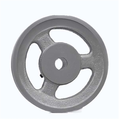 "BK60-1/2"" Inch Bore Solid Pulley with  OD 6"" for V-belts cast iron size 4L, 5L"