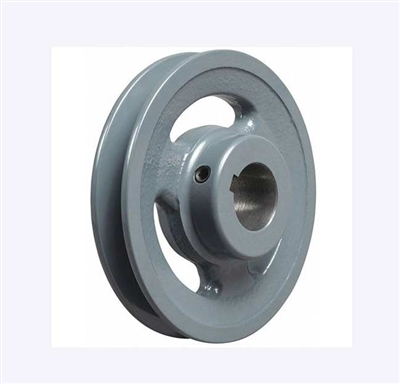 "BK60-3/4"" Inch Bore Solid Pulley with  OD 6"" for V-belts cast iron size 4L, 5L"