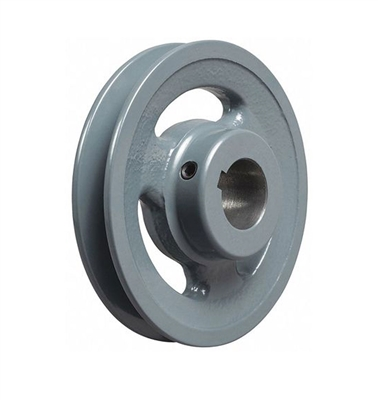 "BK80-1"" Inch Bore Solid Pulley with  OD 8"" for V-belts cast iron size 4L, 5L"