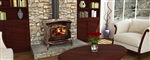 Breckwell SWC21M Wood Stove, Wood Stove SWC21M, Breckwell SWC21M, Breckwell SWC21M burns up to 68,000 BTU's