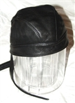 Classic Black Leather Head Wrap