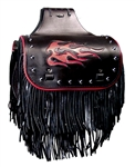 Standard Studded, Flame Inlay, Fringe