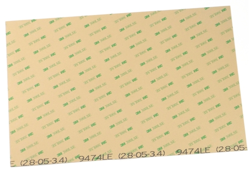 """3M 300LSE .1MM THIN DOUBLE SIDED ADHESIVE 1-500 SHEETS 2.75/""""X3.75/"""" READ//ASK!"""