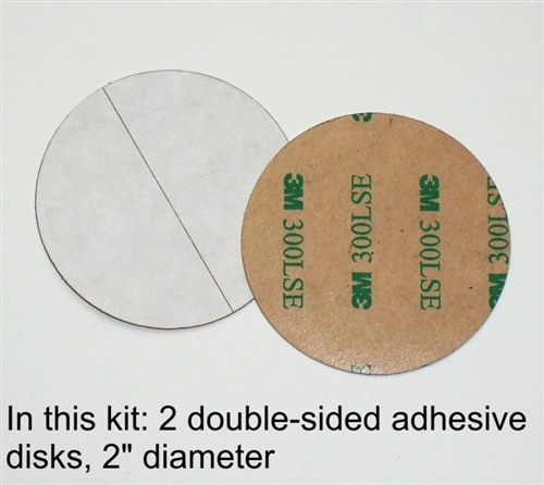 Sulofri 3m Double Sided Adhesive Disks One Pair 2 Inch
