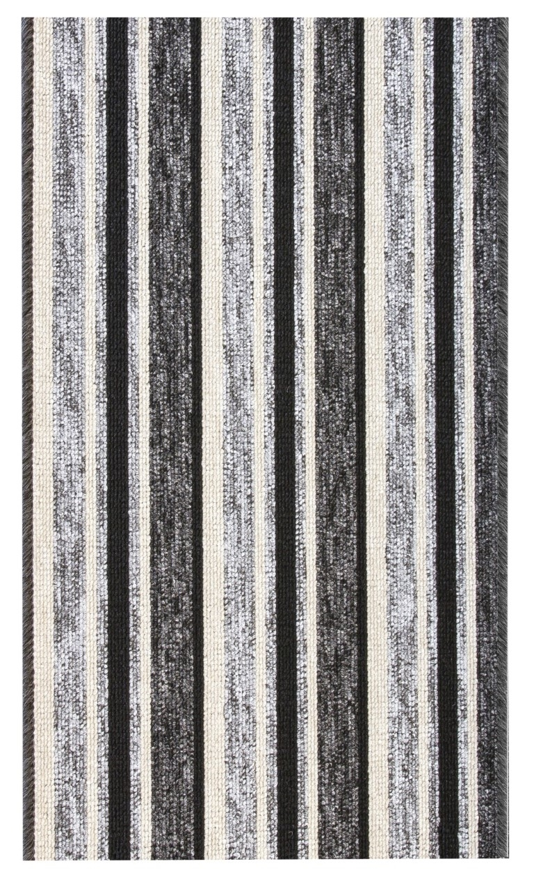 Alba Cut To Measure Kitchen Hall Mat Grey Black