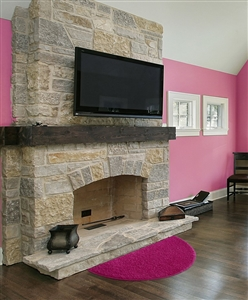 pink half moon fireplace rug