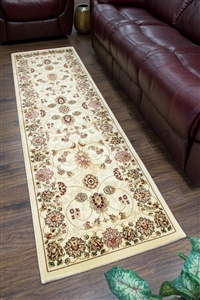 Cotswold Traditional Cream Gold Runner Rug - 2412
