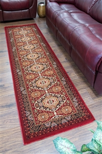 Cotswold Traditional Red Runner Rug - 9010