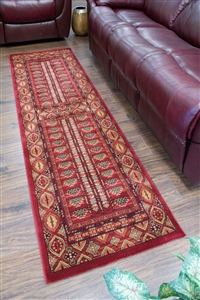 Cotswold Traditional Red Runner Rug - 2273