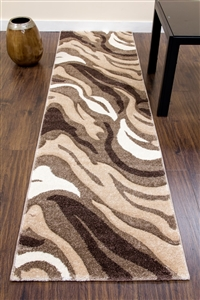Primo-Runner-Rug-Beige/Brown- 3862