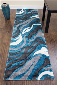 Primo-Runner-Rug-Teal-Grey- 3862
