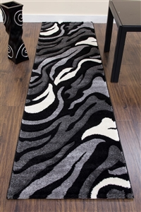 Primo-Runner-Rug-Black/Grey- 3862