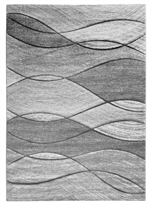 Impulse Waves Geometric Rug - Grey