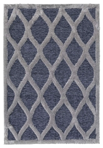 finesse tear drop high-low shaggy grey rug