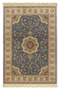 kashmir light blue cream rug