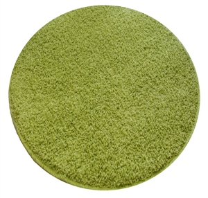 green round shaggy rug