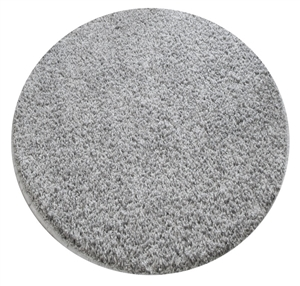 grey round shaggy rug