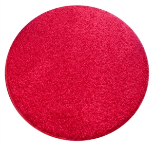 red round shaggy rug