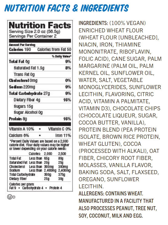 Image result for lenny & larry's the complete cookie nutritional