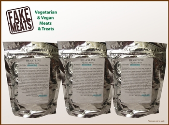 "Heartline Meatless Meat Ground ""Beef"" 3-Pack Combo"