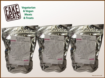 "Heartline Meatless Meat ""Beef"" Fillet 3-Pack Combo"