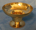 3 WAY BRASS CANDLE HOLDER